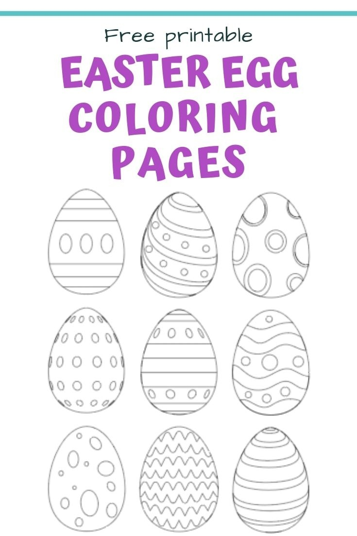 25+ Free Printable Easter Egg Templates & Easter Egg Coloring Pages - Easter Egg Template Free Printable