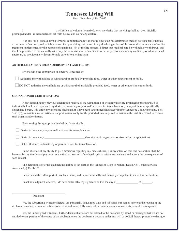 Free Printable Will Forms