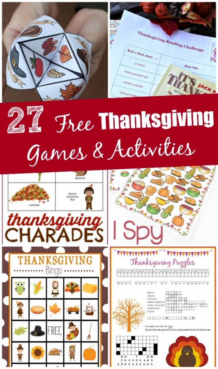 Free Printable Thanksgiving Games For Adults