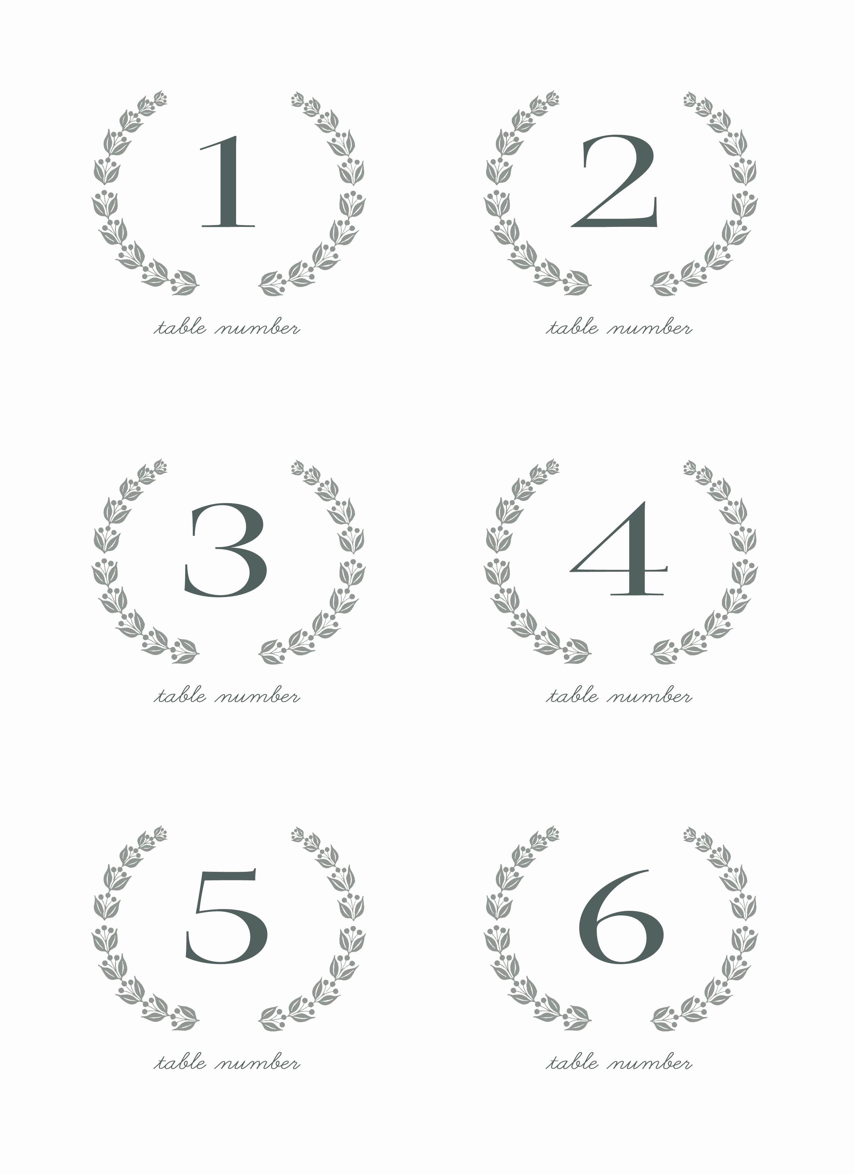 28 Elegant Printable Table Numbers | Kittybabylove - Free Printable Numbers