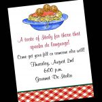 28 Images Of Free Template For Italian Party | Unemeuf   Free Printable Italian Dinner Invitations