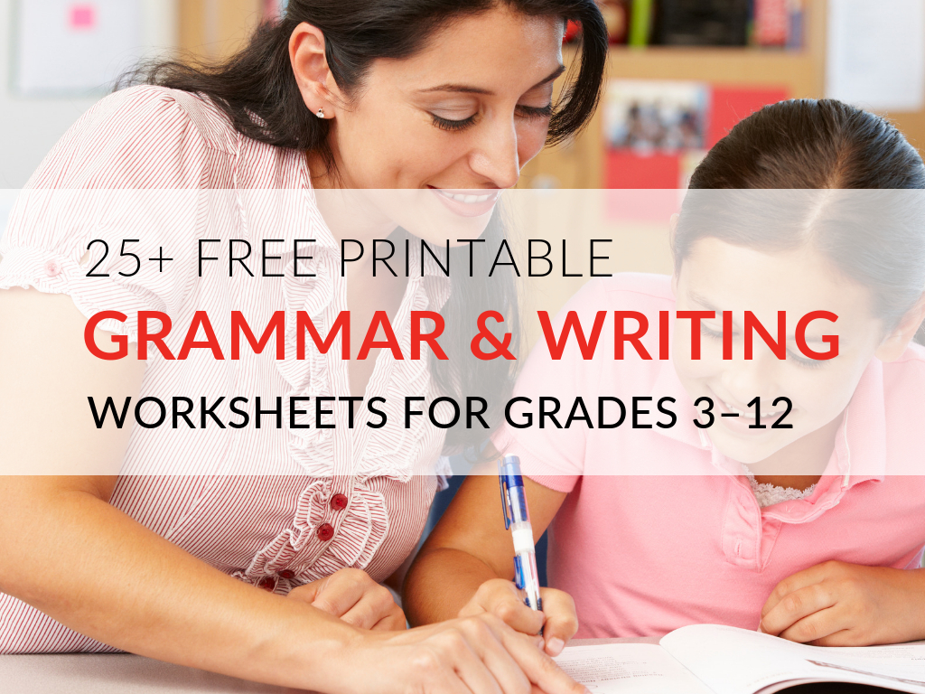 29 Printable Grammar Worksheets That Will Improve Students' Writing - Free Printable Grammar Worksheets For Highschool Students