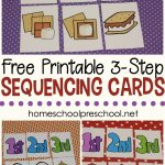 3 Step Sequencing Cards Free Printables For Preschoolers   Free Printable Kindergarten Task Cards