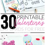 30 Valentines Day Printable Cards   Free Printable Football Valentines Day Cards