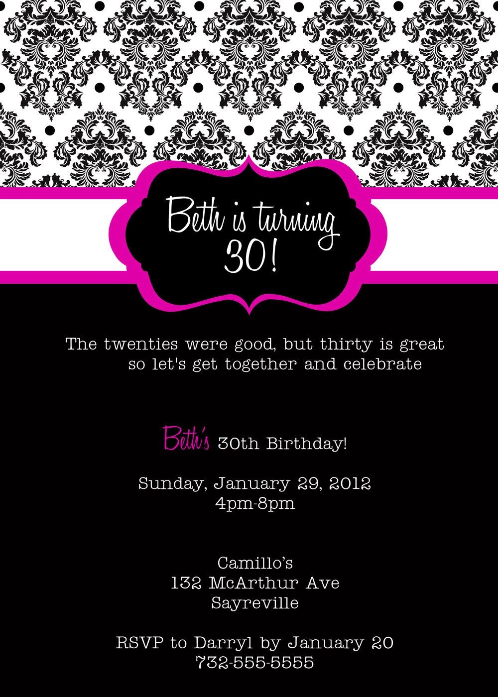 30Th Birthday Invitations Printable | 30 Is Coming | Birthday Party - Free Printable 18Th Birthday Invitations