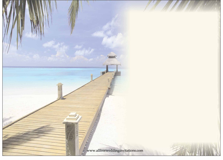 34 Stylish Bridal Shower Invitation Templates | Kittybabylove - Free Printable Beach Theme Bridal Shower Invitations