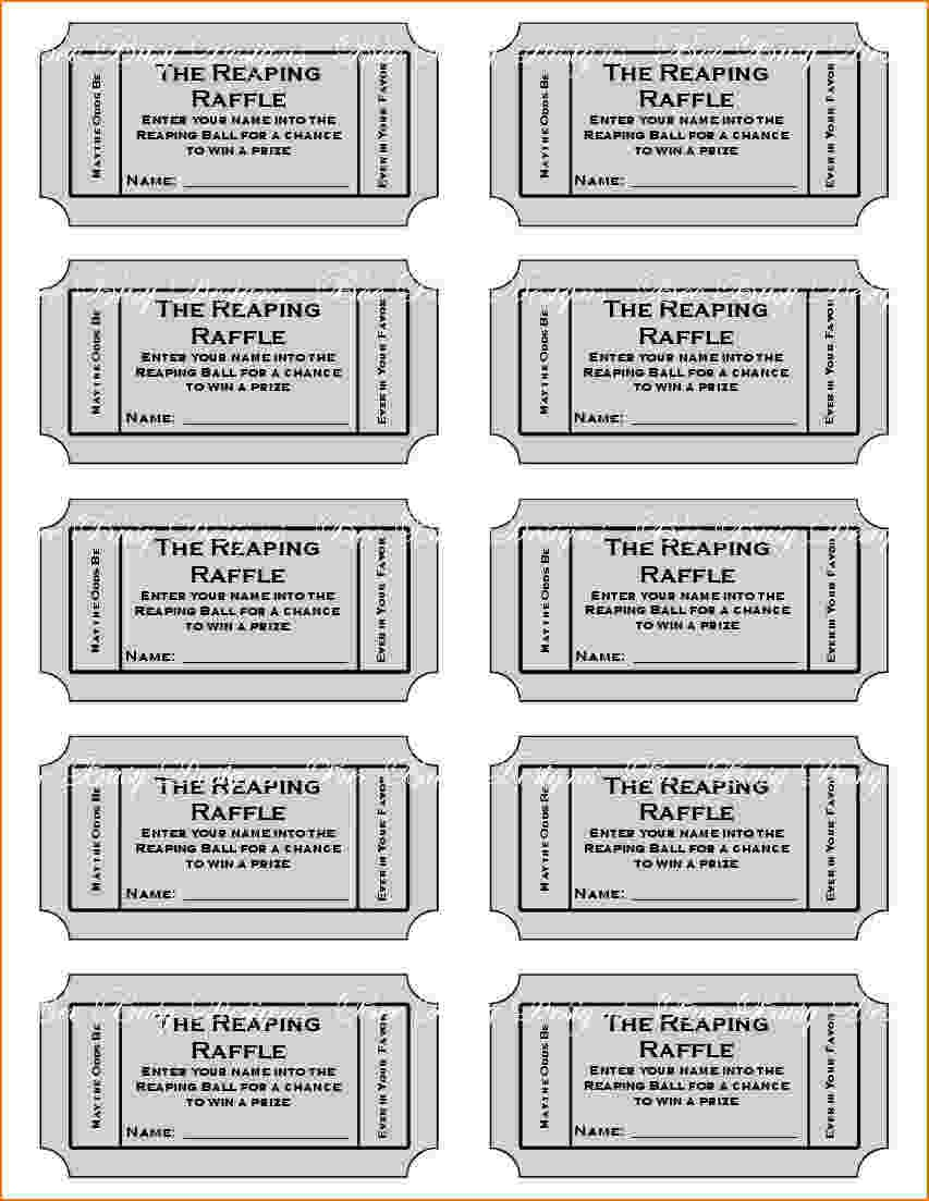 4+ Printable Raffle Tickets | Teknoswitch - Diaper Raffle Template Free Printable