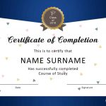 40 Fantastic Certificate Of Completion Templates [Word, Powerpoint]   Free Printable Certificate Templates