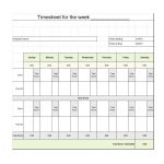 40 Free Timesheet / Time Card Templates ᐅ Template Lab   Time Card Templates Free Printable