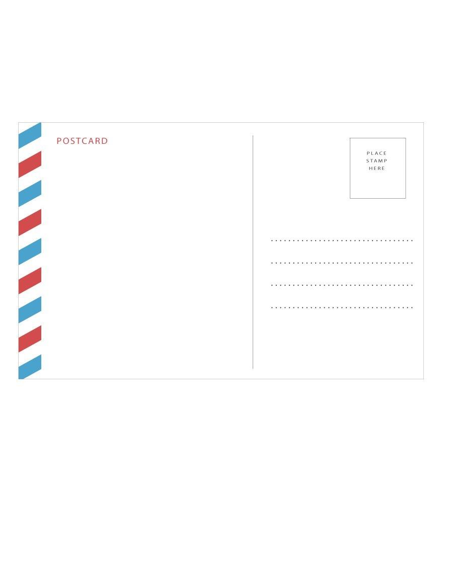 40+ Great Postcard Templates & Designs [Word + Pdf] ᐅ Template Lab - Free Printable Postcard Template
