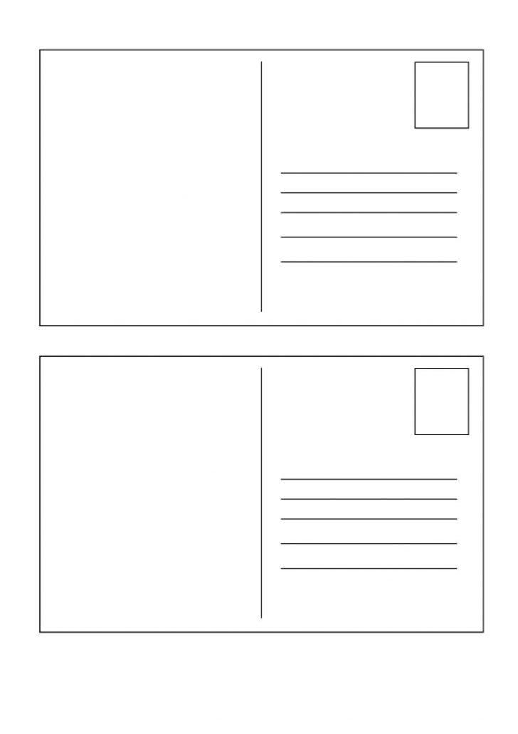 Free Printable Postcard Template