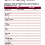 40 Phone & Email Contact List Templates [Word, Excel] ᐅ Template Lab   Free Printable Emergency Phone List