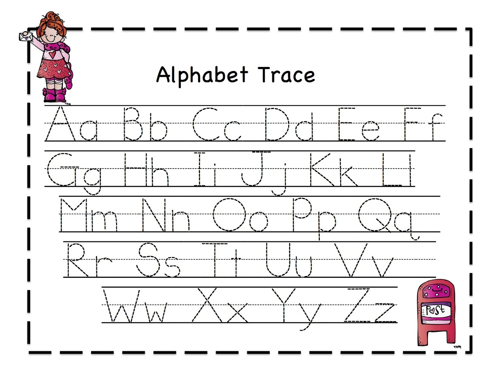 42 Educative Letter Tracing Worksheets | Kittybabylove - Free Printable Alphabet Tracing Worksheets For Kindergarten