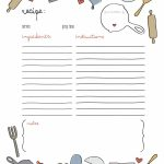 44 Perfect Cookbook Templates [+Recipe Book & Recipe Cards]   Free Recipe Book Templates Printable