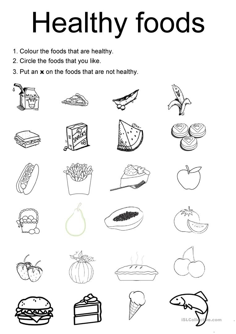 49 Free Esl Healthy Food Worksheets - Free Printable Health Worksheets For Middle School