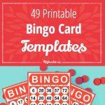 49 Printable Bingo Card Templates | Printable Games | Free Bingo   Free Printable Bingo Cards 1 100