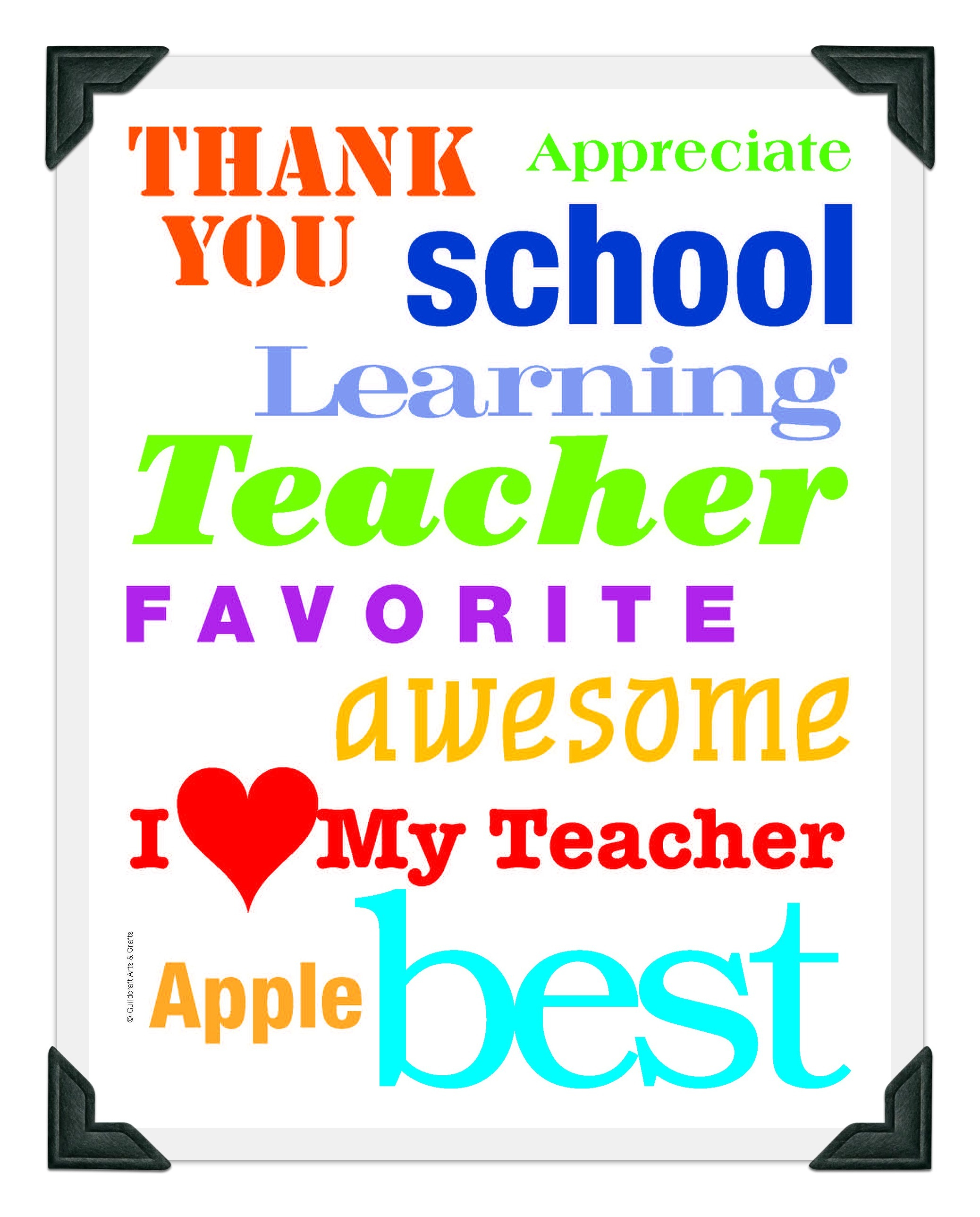5 Images Of Free Printable Teacher Appreciation Clip Art - Wikiclipart - Free Printable Teacher Appreciation Greeting Cards