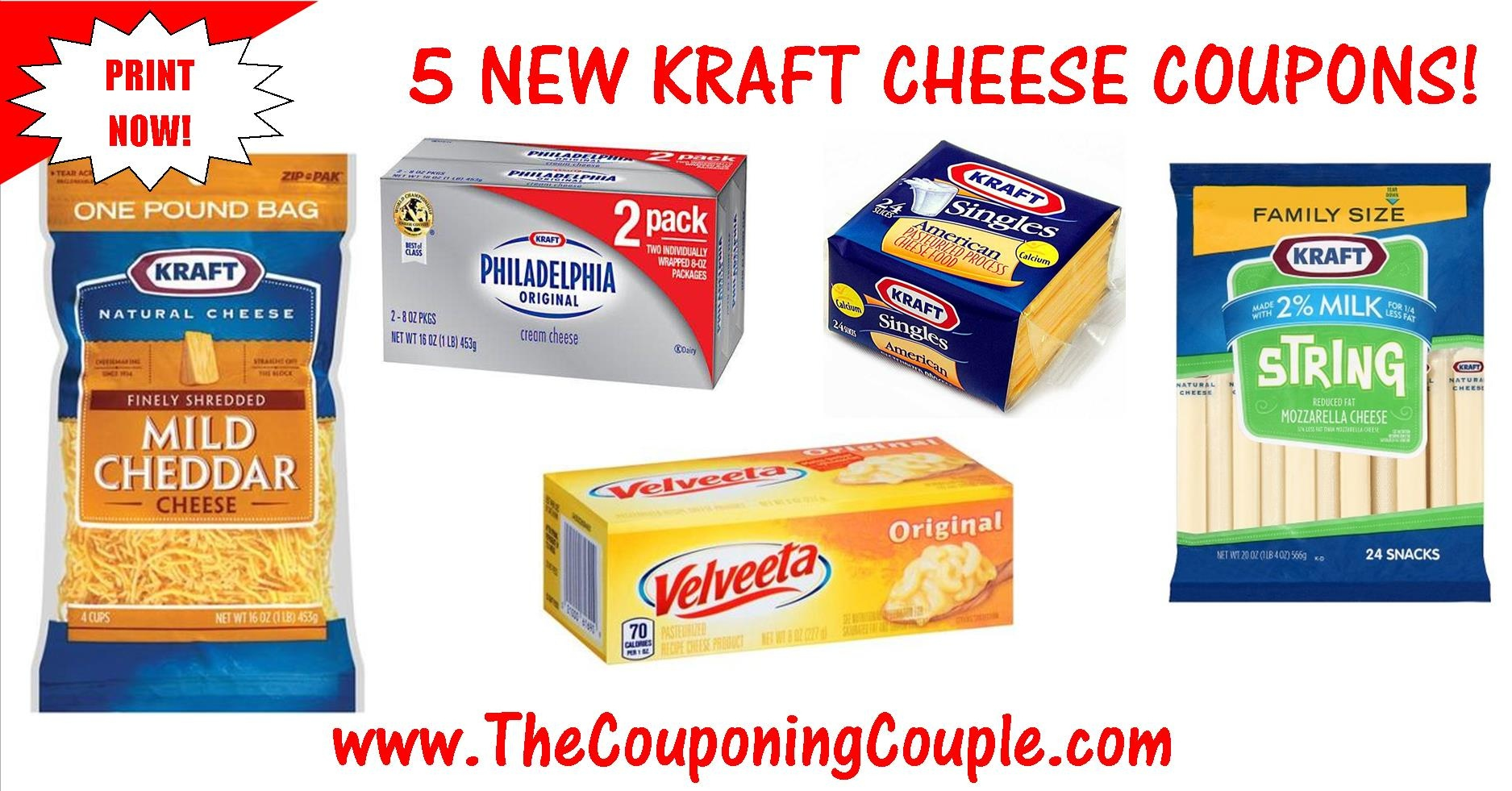 5 New Kraft Cheese Printable Coupons ~ Print Now! - Free Printable Kraft Food Coupons