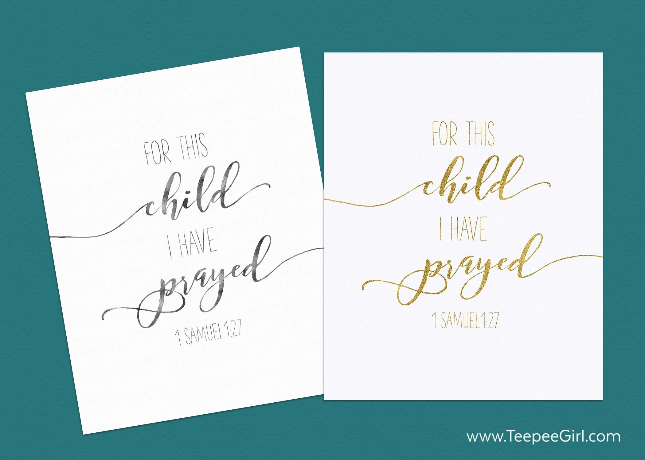 5 Unexpected Things I Learned Through Adoption (+ A Free Printable - For This Child We Have Prayed Free Printable
