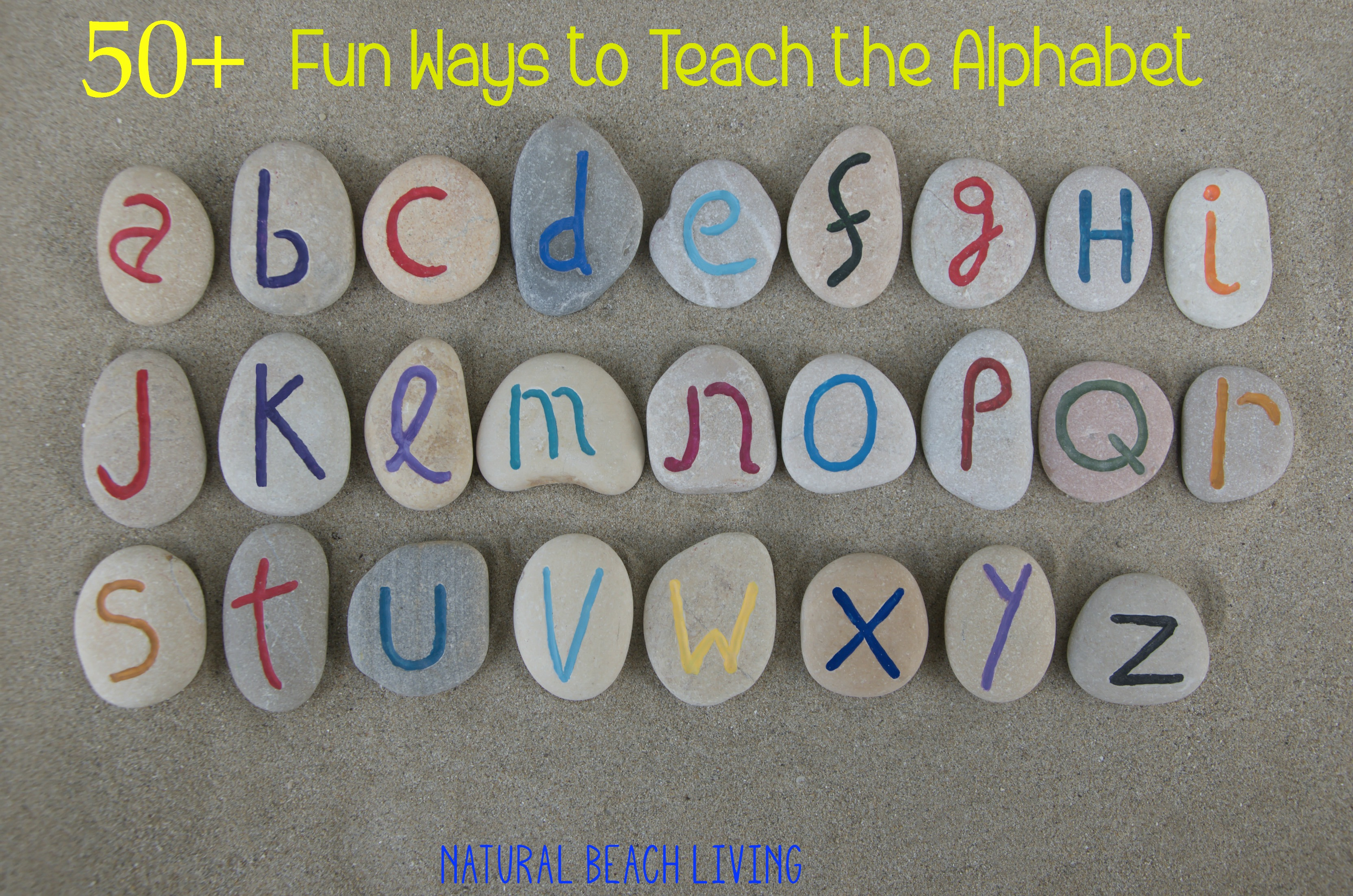 50+ Fun Ways To Teach The Alphabet - Natural Beach Living - Free Printable Alphabet Games