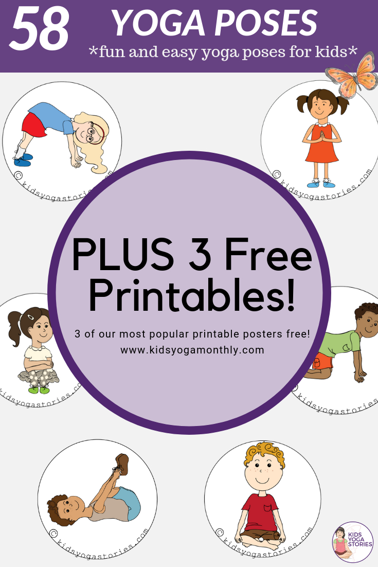 58 Fun And Easy Yoga Poses For Kids (Printable Posters) | Classroom - Free Printable Preschool Posters
