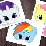 6 My Little Pony Printable Masks Birthday Party   Custom Diy   Free My Little Pony Printable Masks