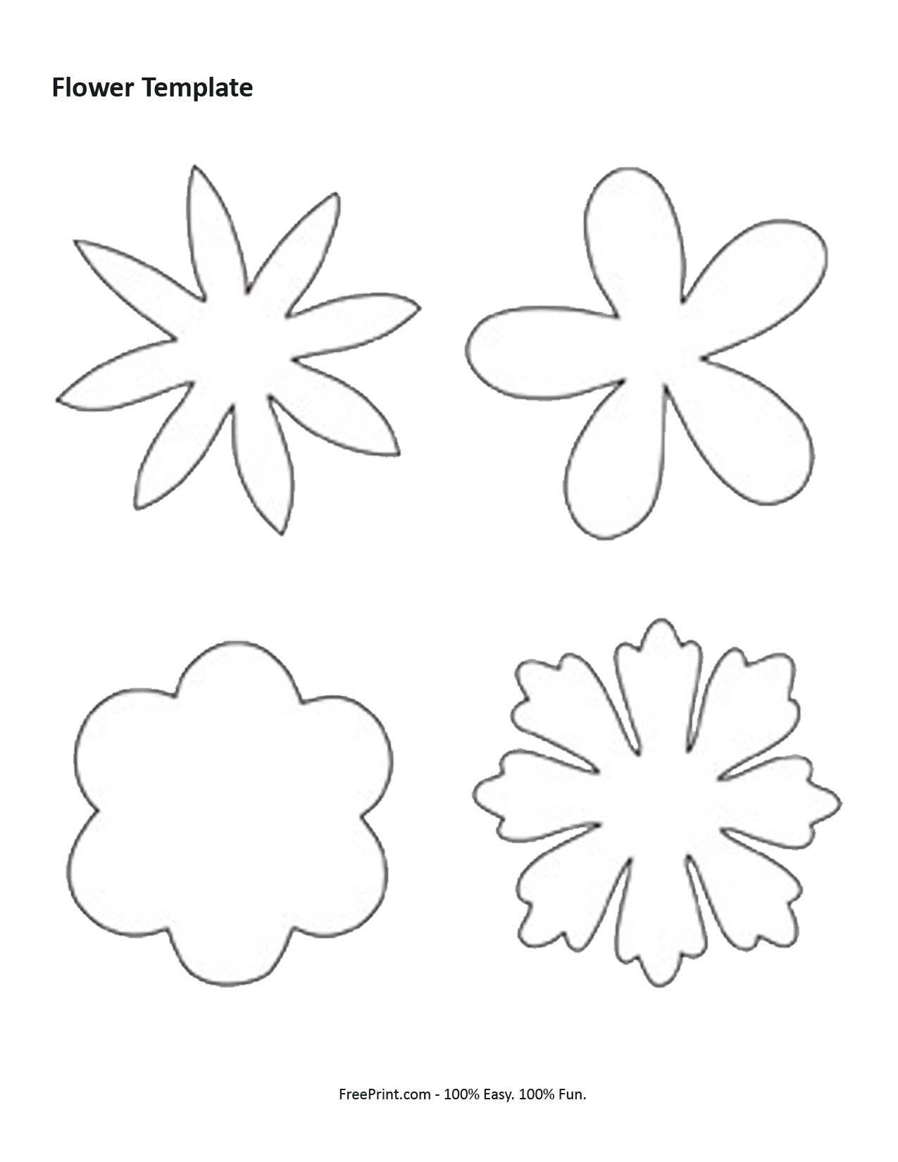 7 Best Images Of Shape Flower Printable Templates - Free Printable - Free Printable Flower Template