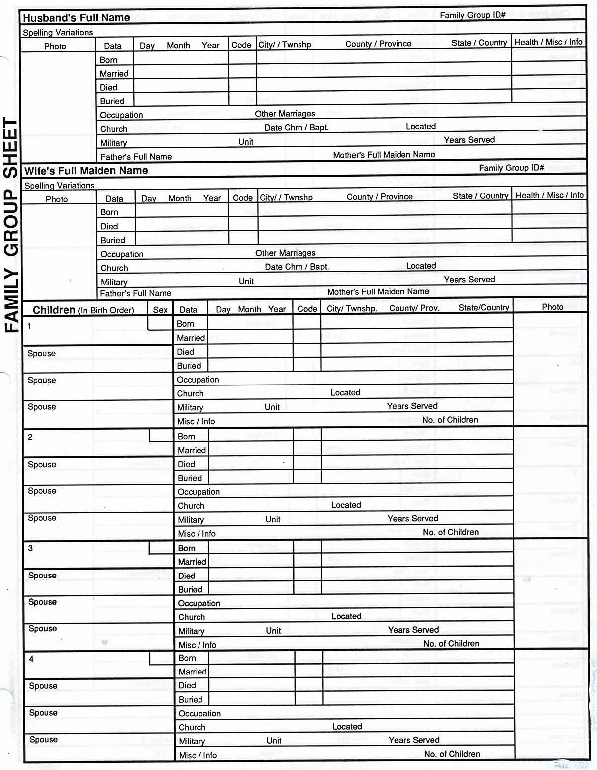 7 Generation Pedigree Chart | Genealogy | Genealogy Chart, Family - Free Printable Genealogy Worksheets
