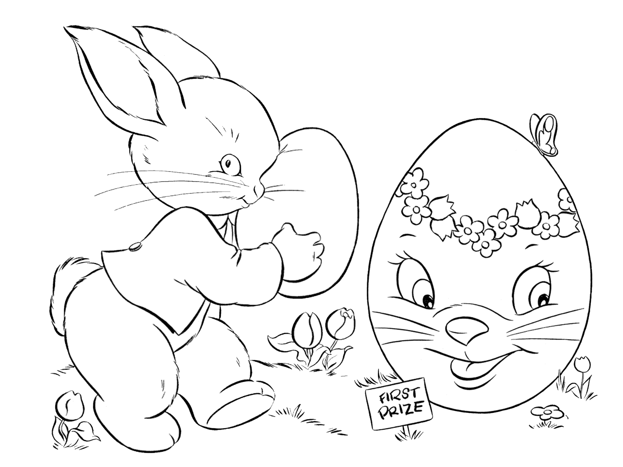 7 Places For Free, Printable Easter Egg Coloring Pages - Free Easter Color Pages Printable
