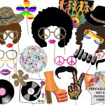 70S Party Photo Booth Props: Disco Party Props | Etsy – Free Printable 70's Photo Booth Props
