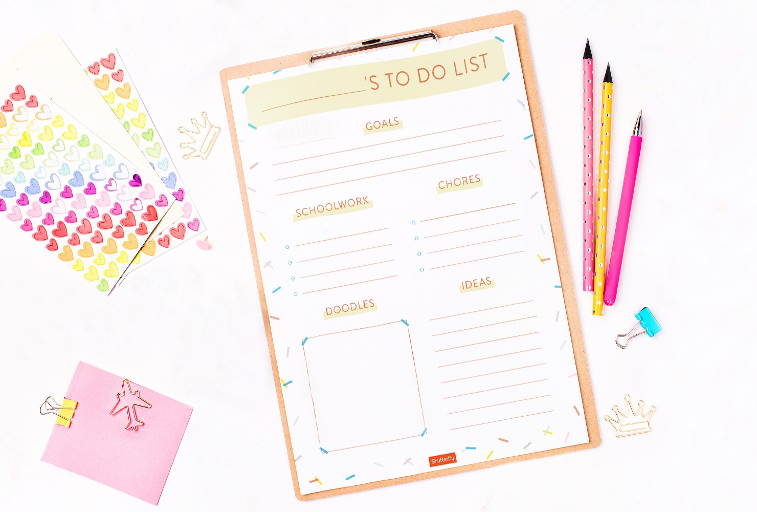 8 Free Printable To Do Lists To Get Things Done | Shuttterfly - Free Printable Kids To Do List