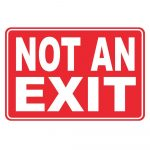 8 In. X 12 In. Plastic Not An Exit Sign Pse 0091   The Home Depot   Free Printable No Exit Signs
