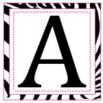 8X8 Inch Large Square Printable Alphabet Letters | Printable Banner   Free Printable 8 Inch Letters
