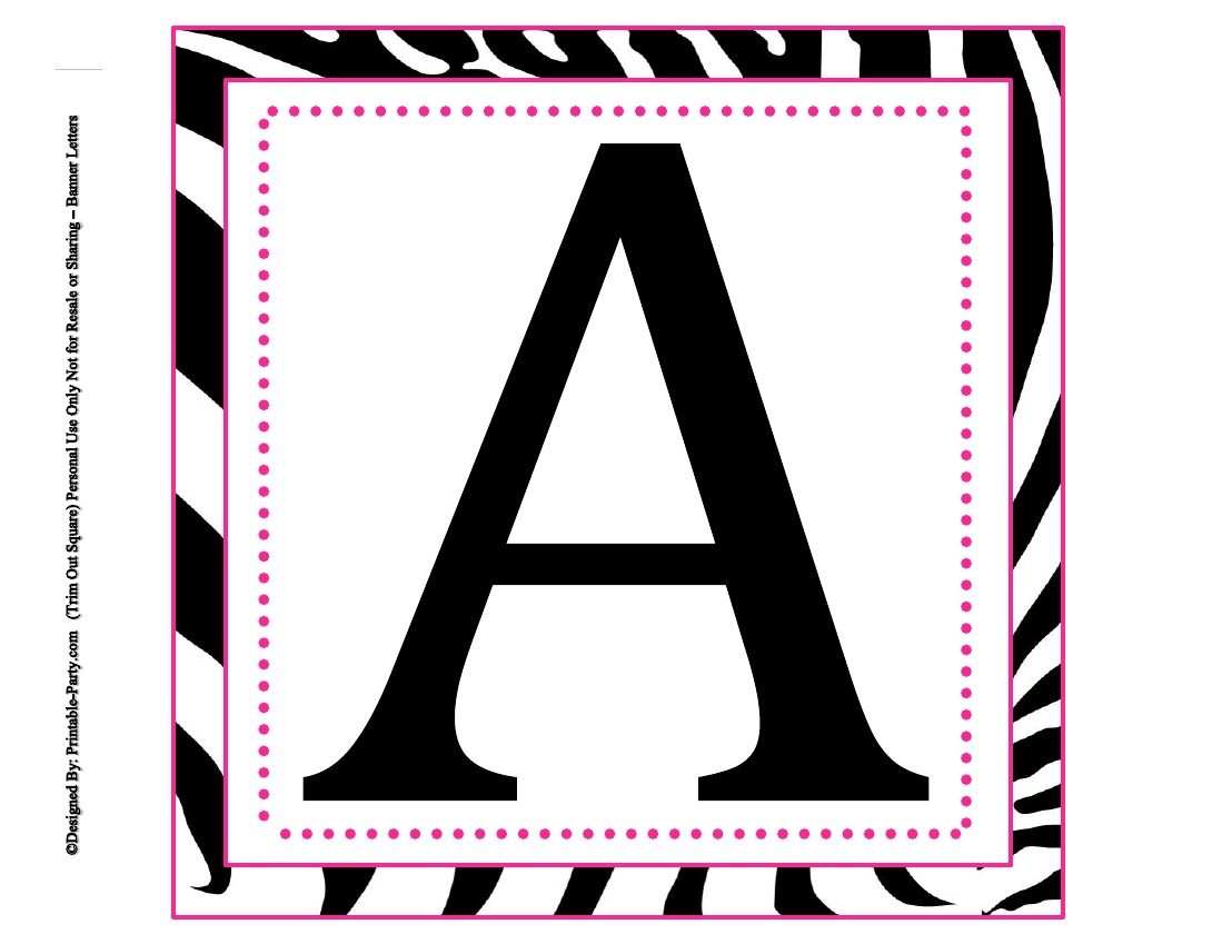 8X8 Inch Large Square Printable Alphabet Letters   Printable Banner - Free Printable 8 Inch Letters