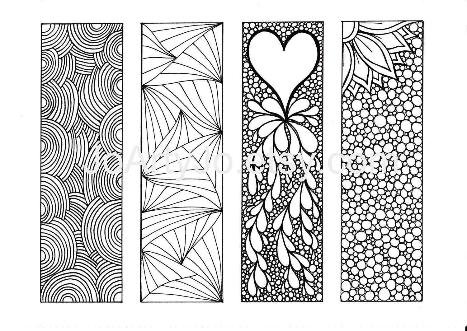 9 Best Images Of Adult Coloring Pages Free Printable Bookmarks - Free Printable Bookmarks To Color