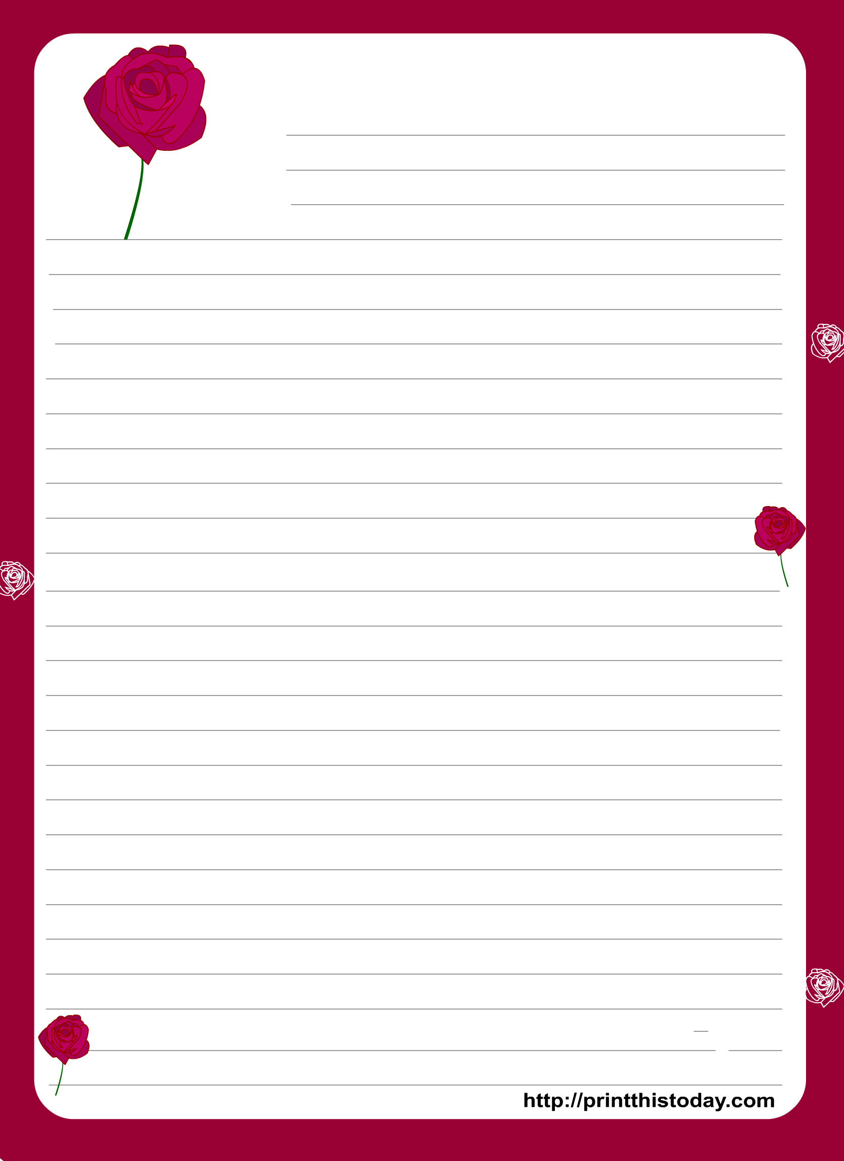 A Cute Letter Writing Paper Decorated With Cute Hearts Is Great To - Free Printable Stationary Pdf