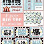 A First Birthday {Big Top} Bash + Free Printables |  ♥  Parties   Free Printable Carnival Decorations