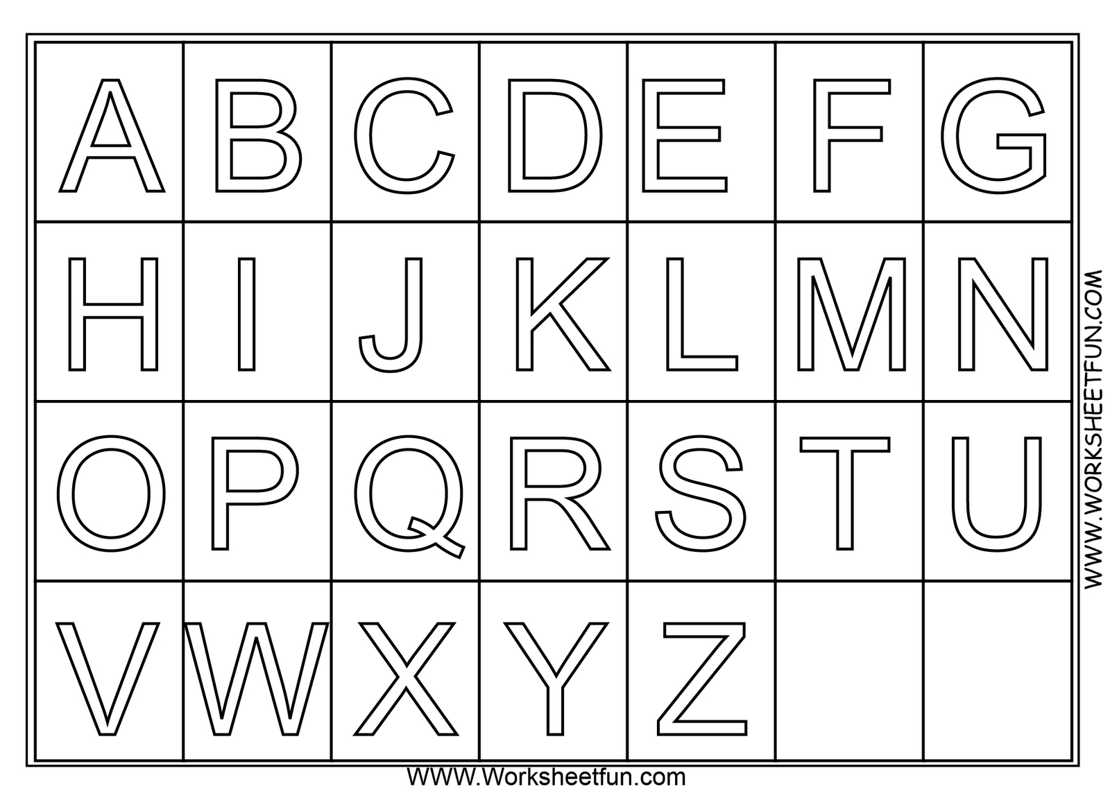A Z Alphabet Coloring Pages Download And Print For Free   Pre K - Printable Alphabet Letters Free Download