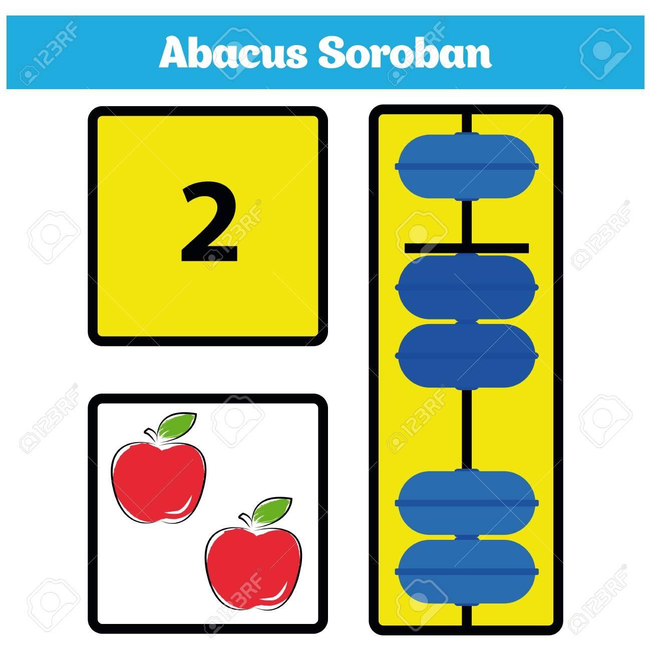 Abacus Soroban Kids Learn Numbers With Abacus, Math Worksheet - Free Printable Abacus Worksheets
