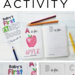 Abc Book Template Diy / Baby Shower Activity / Alphabet Color   Free Printable Baby Shower Coloring Pages