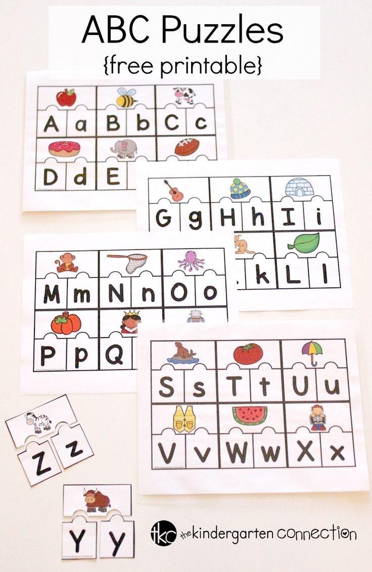 Abc Puzzles | Abc Themes For Kids | Abc Centers, Kindergarten - Free Printable Alphabet Puzzles