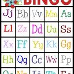 Abc's Bingo  Free Printable!   Sassy Sanctuary   Free Printable Alphabet Games
