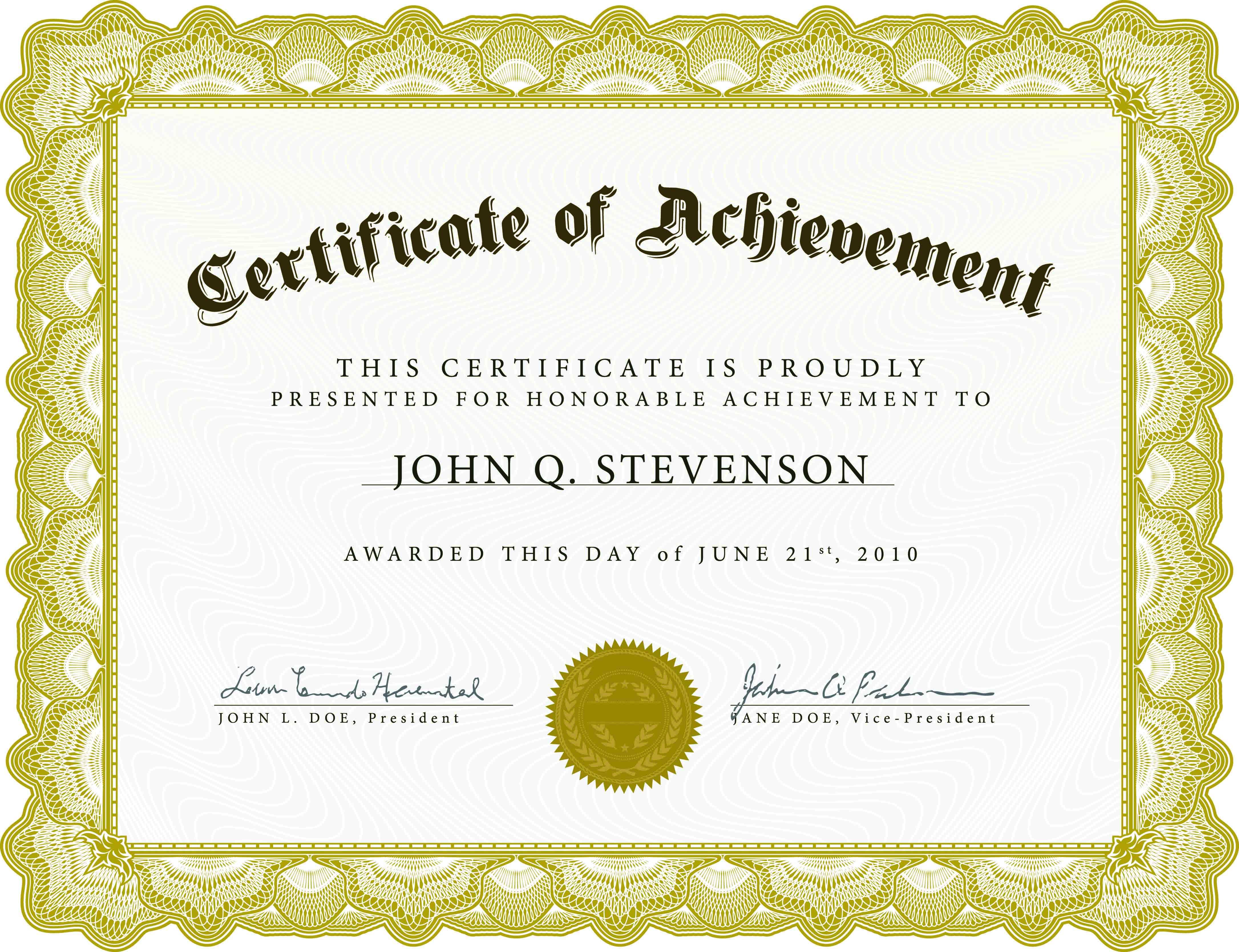 Achieve-Awards-Printable-Certificates - Free Printable Certificates And Awards