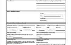 Adult Physical Forms – 5+ Free Documents In Pdf – Free Printable Physical Exam Forms