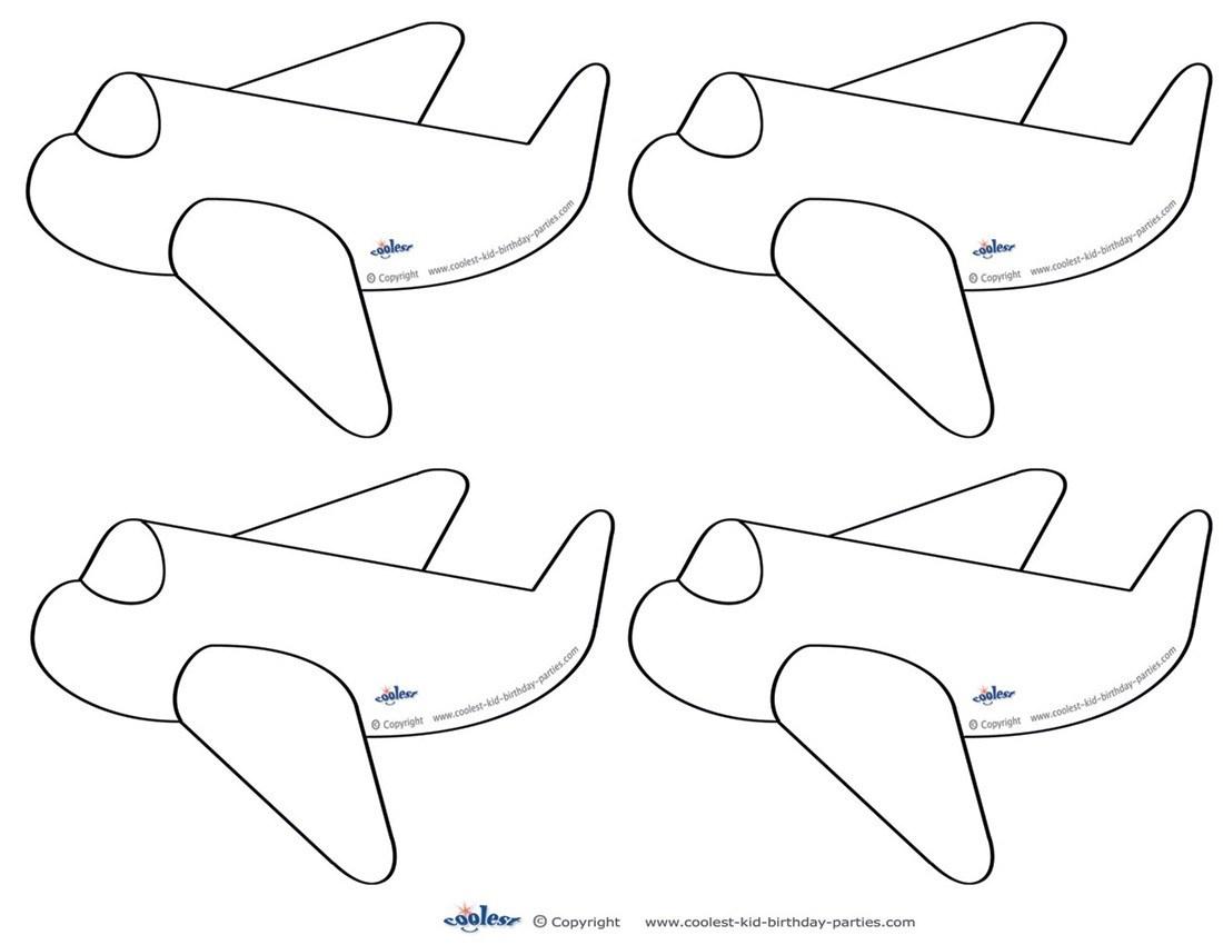 Airplane Templates. Free Airplane Powerpoint Template. Air Travel - Free Printable Airplane Template