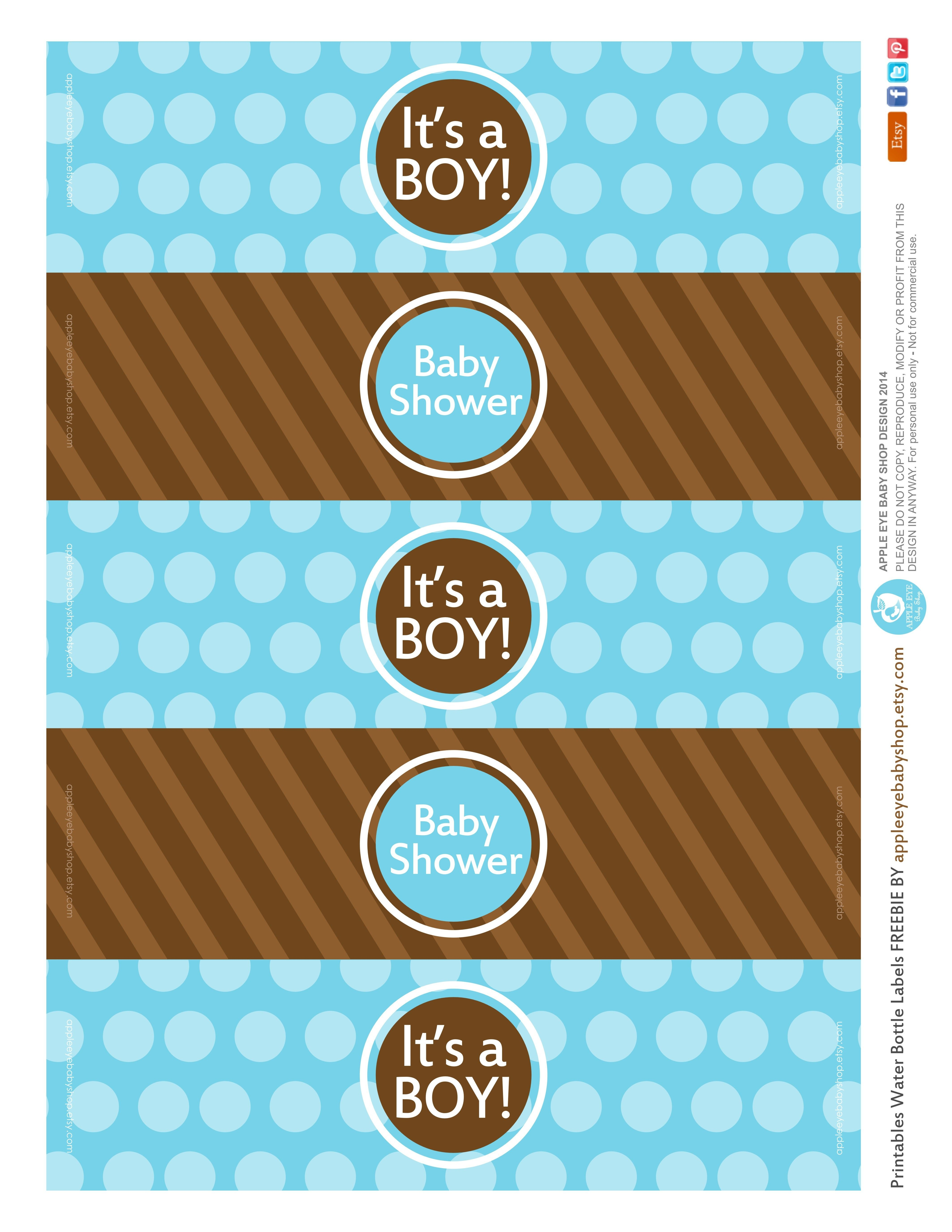 All Sizes | Free Printable | Water Bottle Labels Baby Boyapple - Free Printable Water Bottle Labels For Baby Shower