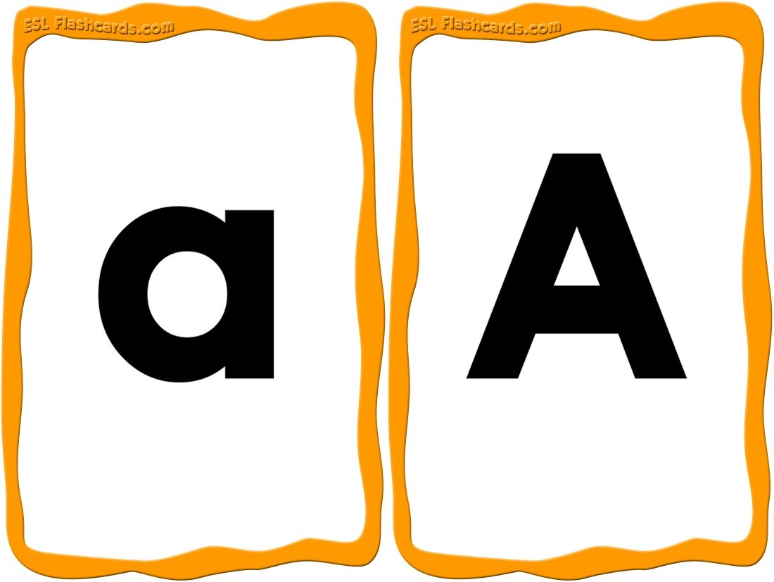 Alphabet Cards - 52 Free Printable Flashcards - Free Printable Alphabet Cards With Pictures