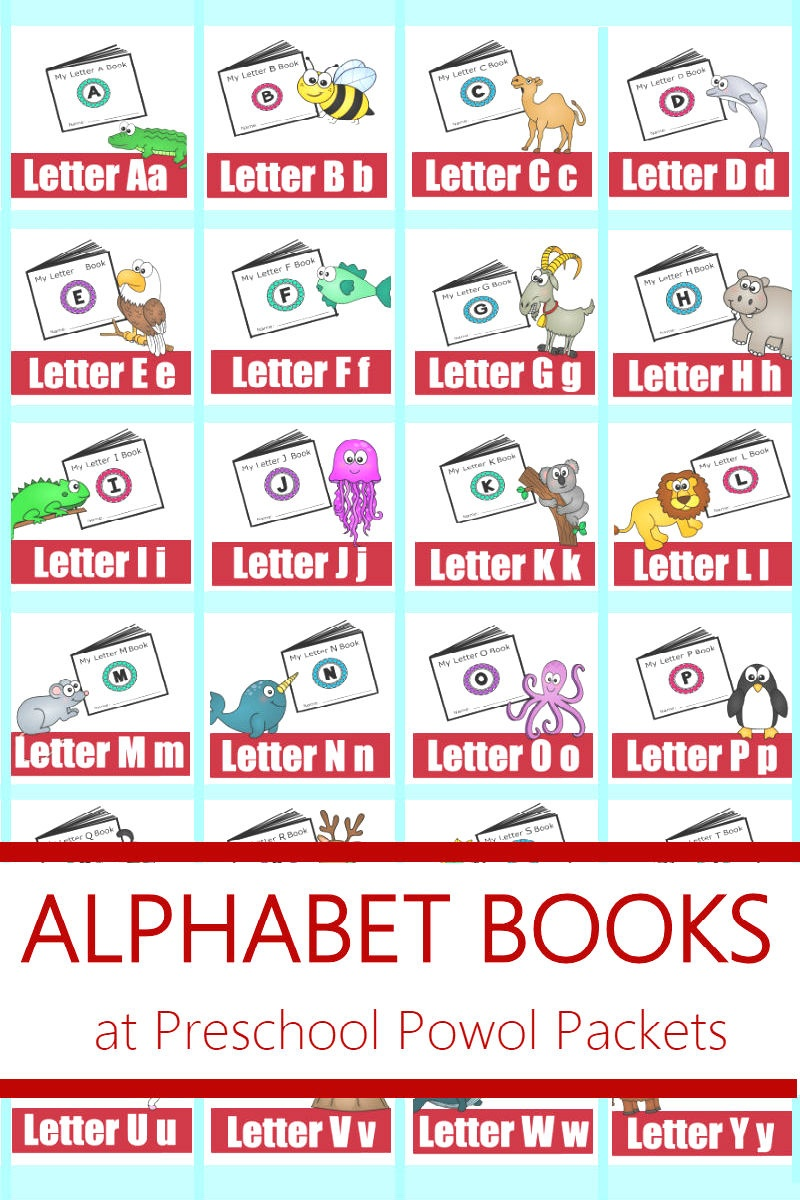 Alphabet! Free Printable Mini Books | Preschool Powol Packets - Free Printable Mini Books