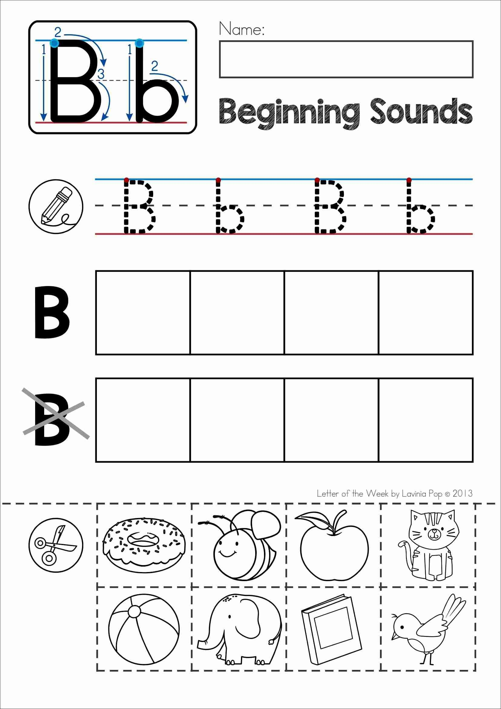 Alphabet Phonics Letter Of The Week B | Alphabet Activities - Phonics Pictures Printable Free