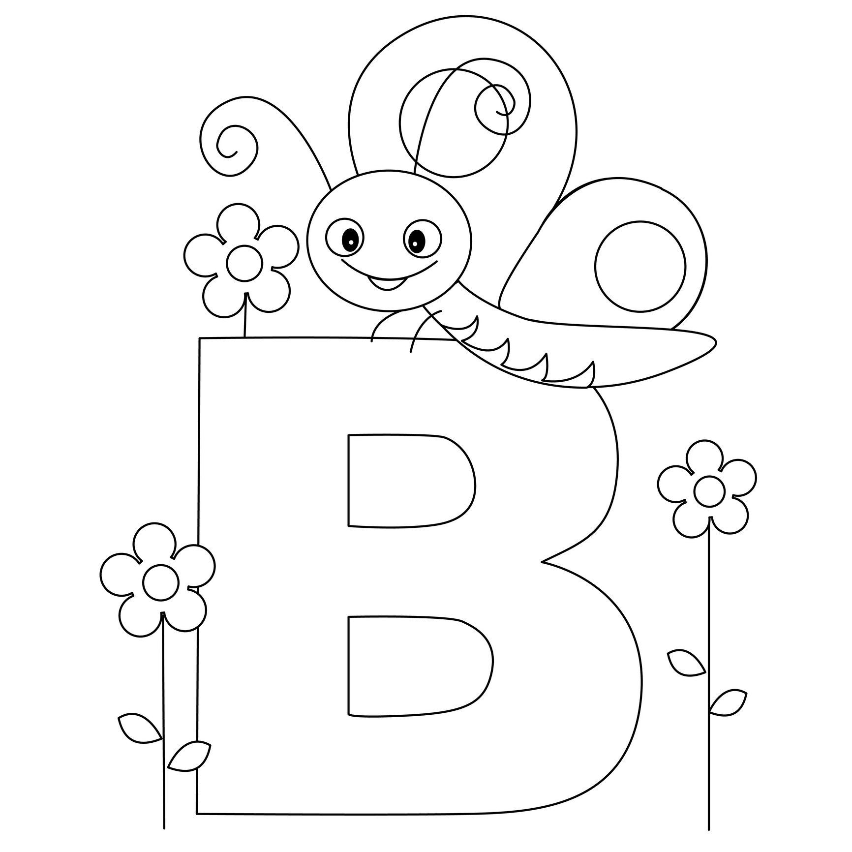 Alphabet Printable Coloring Pages | Presidencycollegekolkata - Free Printable Alphabet Coloring Pages